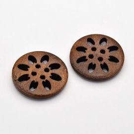 Wooden button 25 mm, 1 pcs.
