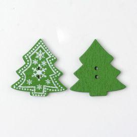 """Koka poga """"Ziemassvētku eglīte"""" 30 mm, 1 gab."""