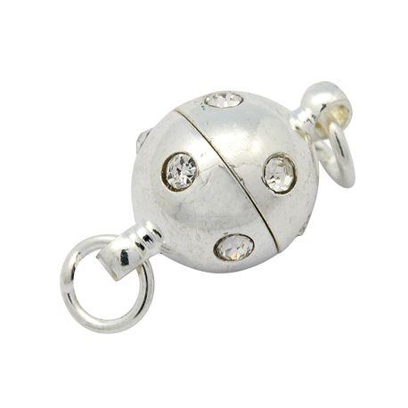 Magnetinis užsegims su akutėmis sidabro spalvos 16x10mm