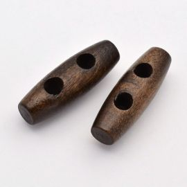 Wooden button 30x10 mm, 1 pcs.