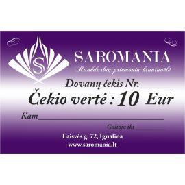 Padovanokite savo antrai pusei dovanų čekį, kurio vertė net 10 Eur. Čekį galite panaudoti tik perkant internetu.