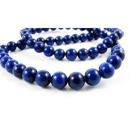 Lapis Lazuli karoliukai tamsiai mėlynos spalvos apvalios formos 6 mm