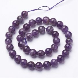 Natural Amethist bead thread 10 mm