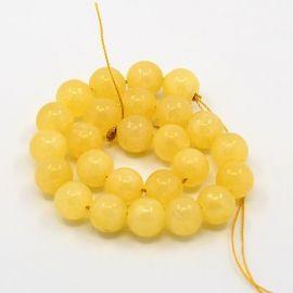 Бусина из нефрита, желтая, размер 8 мм