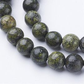 Septarian beads strand 6 mm