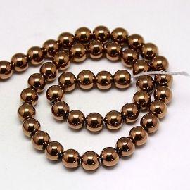 Synthetic Hematite bead thread 6 mm