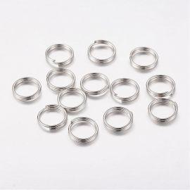 Dubultlēciena gredzeni 4 mm, 40 gab.