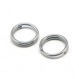 Stainless steel double rings 5 mm, 20 pcs.