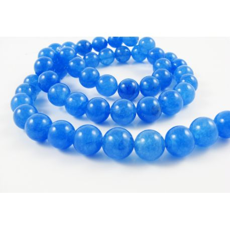 Stone beads blue round shape 8 mm