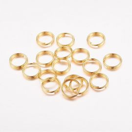 Double rings 4 mm, 40 pcs.