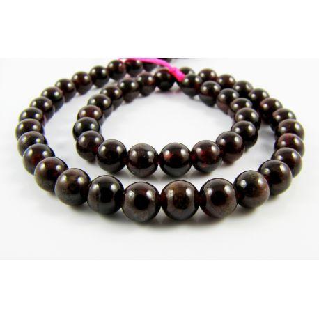 Pomegranate beads dark cherry color round shape 5 mm