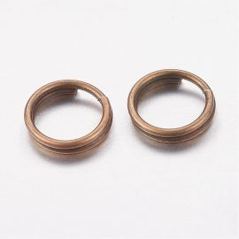 Double nickel-free rings 6 mm, 20 pcs.