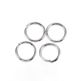 Stainless steel rings 4 mm, 20 pcs.