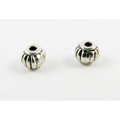Intarpas skirtas papuošalų gamybai sendinto sidabro spalvos apvalios formos 5 mm