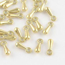 Удлинитель цепи, цвет светло-золотистый 7x3 мм