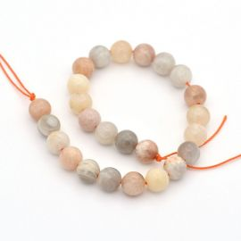 Natural Solar Stone Bead strand 8 mm