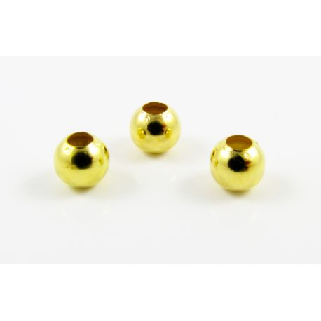 Zelta krāsas ieliktnis, apaļa forma, izmērs 4 mm, 100 gab.