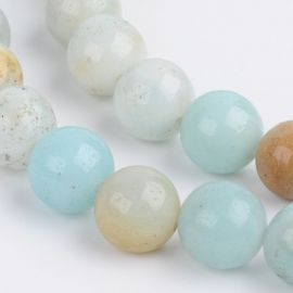 Natural Amazonite bead thread 8 mm