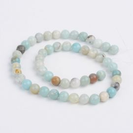 Natural Amazonite beads strand 8 mm