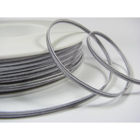 Sutage strip Pega A1001 light grey 3 mm wide 100% viscose country of origin Czech Republic