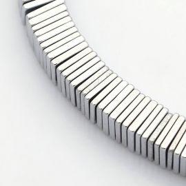 Sintetinio Hematito karoliukai 6 mm, 10 vnt.