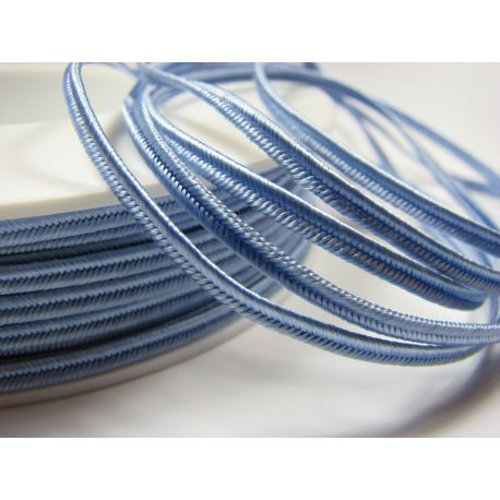 Sutajo strip Pega A1702 light blue 3 mm wide 100% viscose country of origin Czech Republic