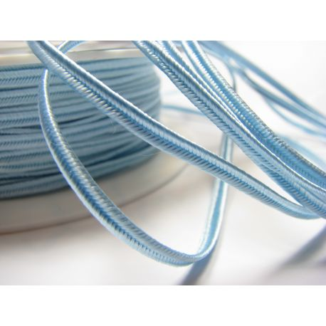 Sutage strip Pega A1703 light blue (pastel) colour 3 mm wide 100% viscose Country of Origin Czech Republic