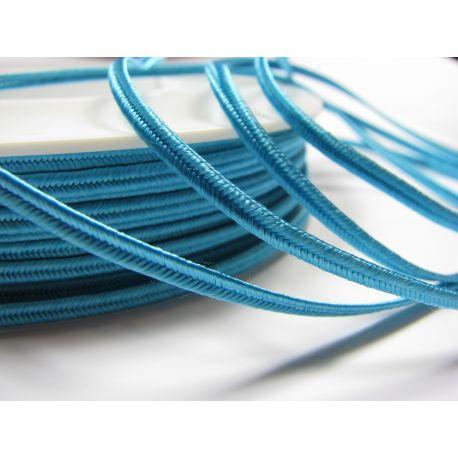 Сутажная полоска Pega A7701 ярко-синяя (электрик) цветная шириной 3 мм 100% вискоза Страна производитель Чехия