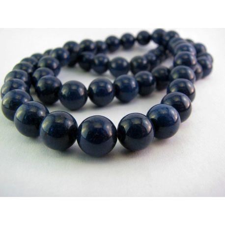 Lapis Lazuli karoliukai tamsiai mėlynos spalvos apvalios formos 8mm