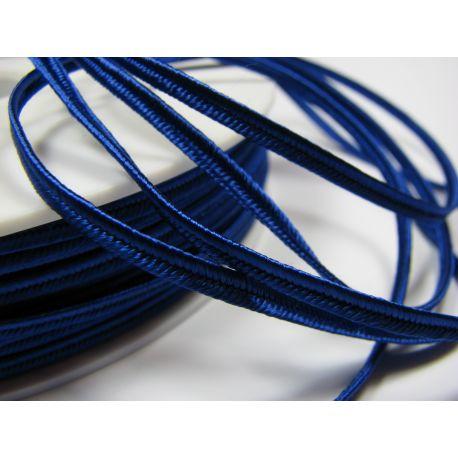 Sutažo juostelė Pega A4704 ryškiai mėlynos spalvos 3 mm pločio 100% viskozė Kilmės šalis Čekija