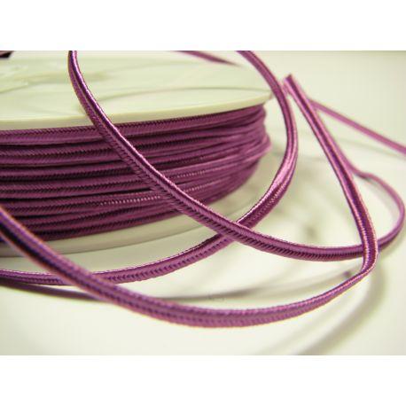 Sutažo juostelė Pega A1603 šviesiai violetinės spalvos 3 mm pločio 100% viskozė Kilmės šalis Čekija