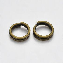 Double jump rings 6 mm, 20 pcs.