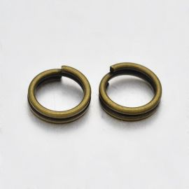 Dubultlēciena gredzeni 6 mm, 20 gab.