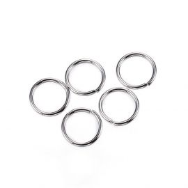 Stainless steel rings 6 mm, 10 pcs.