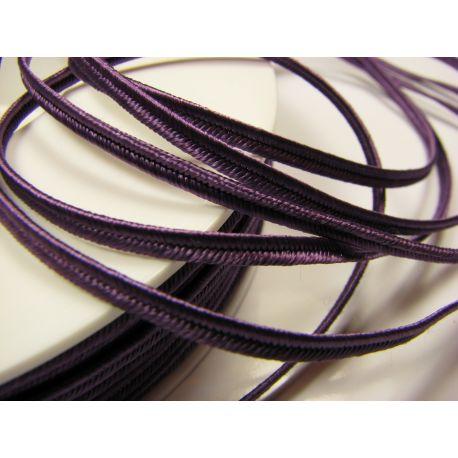Sutažo juostelė Pega A4601 violetinės spalvos 3 mm pločio 100% viskozė Kilmės šalis Čekija