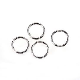 Nerūdijančio plieno žiedeliai 8 mm, 10 vnt.