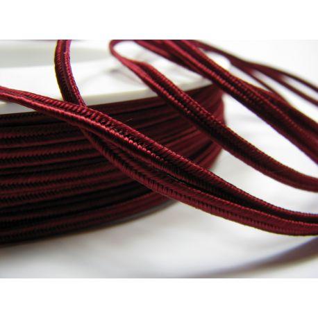 Sutajo strip Pega A7571 cherry colour 3 mm wide 100% viscose country of origin Czech Republic