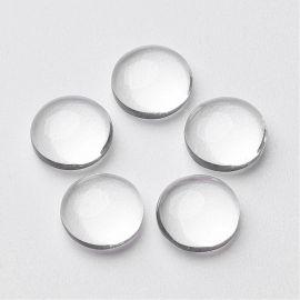 Stikla kabošons 15 mm, 1 gab.