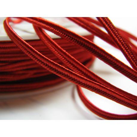 Sutažo juostelė Pega A7501 raudono spalvos 3 mm pločio 100% viskozė Kilmės šalis Čekija