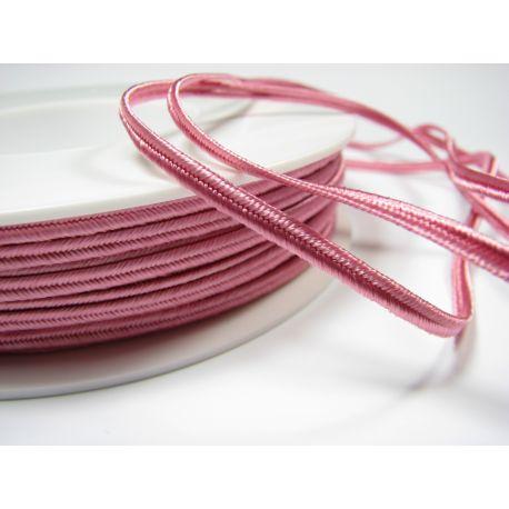 Сутажная полоска Pega A1403 розовая шириной 3 мм 100% вискоза Страна производитель Чехия