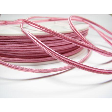 Сутажная полоска Pega A1405 розовая шириной 3 мм 100% вискоза Страна производитель Чехия