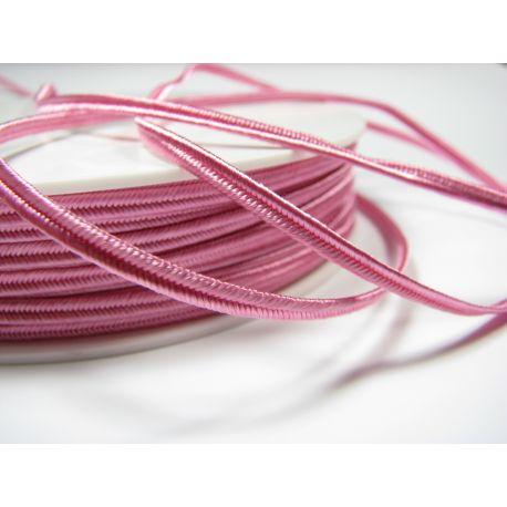Сутажная полоска Pega A1406 ярко-розовая шириной 3 мм 100% вискоза Страна производитель Чехия