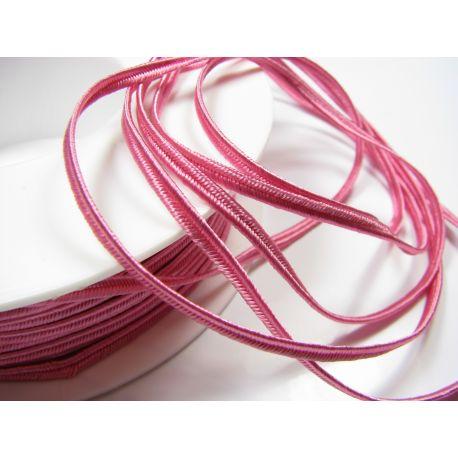 Sutažo juostelė Pega A4404 ryškiai rožinės spalvos 3 mm pločio 100% viskozė Kilmės šalis Čekija