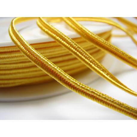 Сутажная полоска Pega A1202 ярко-желтая шириной 3 мм 100% вискоза Страна производитель Чехия