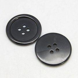 Пластиковая сага, черная, 4 отверстия, размер 20x3 мм, 1 шт.
