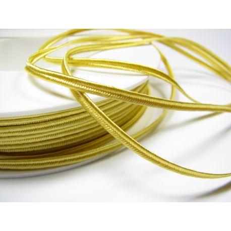 Sutažo juostelė Pega A1203 geltonos spalvos 3 mm pločio 100% viskozė Kilmės šalis Čekija