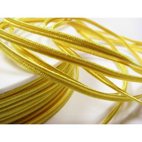 Sutažo juostelė Pega A4201 geltonos spalvos 3 mm pločio 100% viskozė Kilmės šalis Čekija