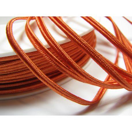 Сутажная полоска Pega A4302 оранжевый шириной 3 мм 100% вискоза Страна производитель Чехия