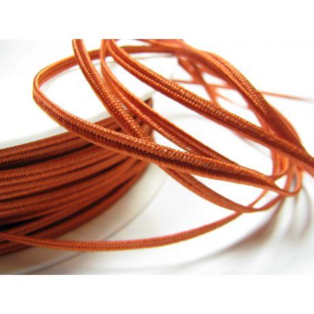 Sutažo juostelė Pega A7302 oranžinės spalvos su raudonu atspalviu 3 mm pločio 100% viskozė Gamintojas Čekija