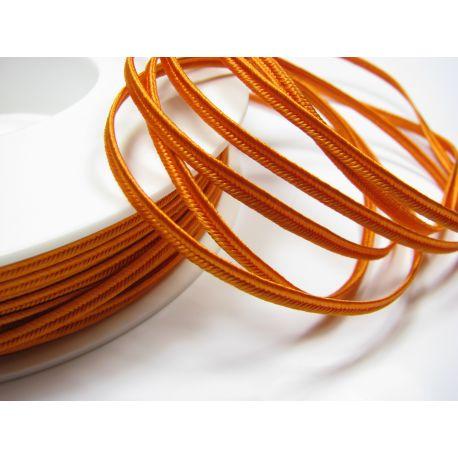 Сутажная полоска Pega A7353 ярко-оранжевая шириной 3 мм 100% вискоза Страна производитель Чехия
